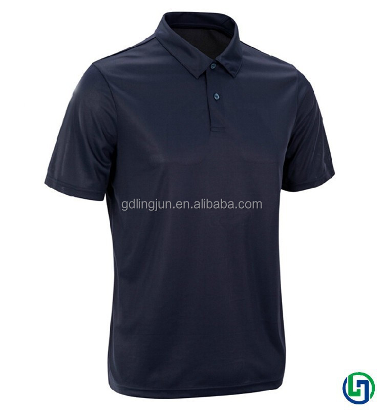 2015 hot sales men polyester dry fit running black golf polo t shirts wholesale china