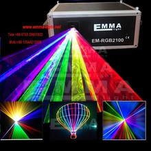 10W 10000mW Full Colors RGB DMX ILDA Animation Laser show projector DJ Disco +ishow program