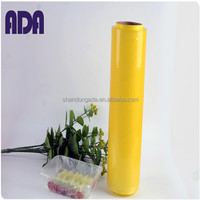 jumbo roll wrapping paper transparent pvc cling film