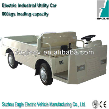 flat cargo truck of Electric industrial car with 800kgs loading capacity, CE approved