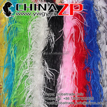 Leading Supplier ZPDECOR Crafts Factory Wholesale Dyed Mix Colors Cheap Curly Ostrich Feather Boas for Girls