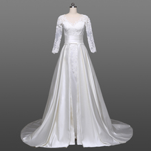 Cheap Suzhou Wedding Dress Long Sleeve Wedding Dress 2018 With Detachable Tail