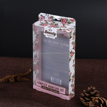 Custom PET/PVC transparent toy flower candy gift plastic full color printed pencil package box packaging