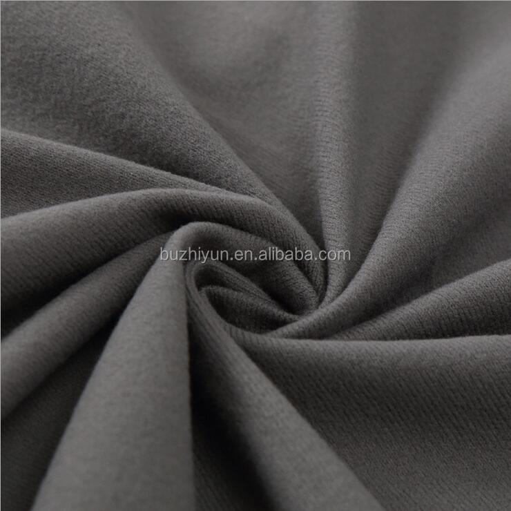 100% polyester soft alova brushed fabric leather substrate fabric