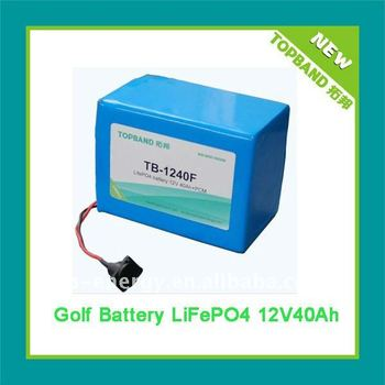 Lithium Golf Battery 12V 40Ah with BMS