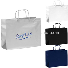 "Matte Laminated paper Finish Shopping Promotional Tote Bag - 16""w x 12""h x 6""d"