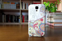 3d flower and rattan pattern cell phone protector Case cover for samsung S4