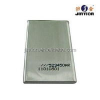 Aluminum Square tube Lithium 3.7v Rechargeable battery