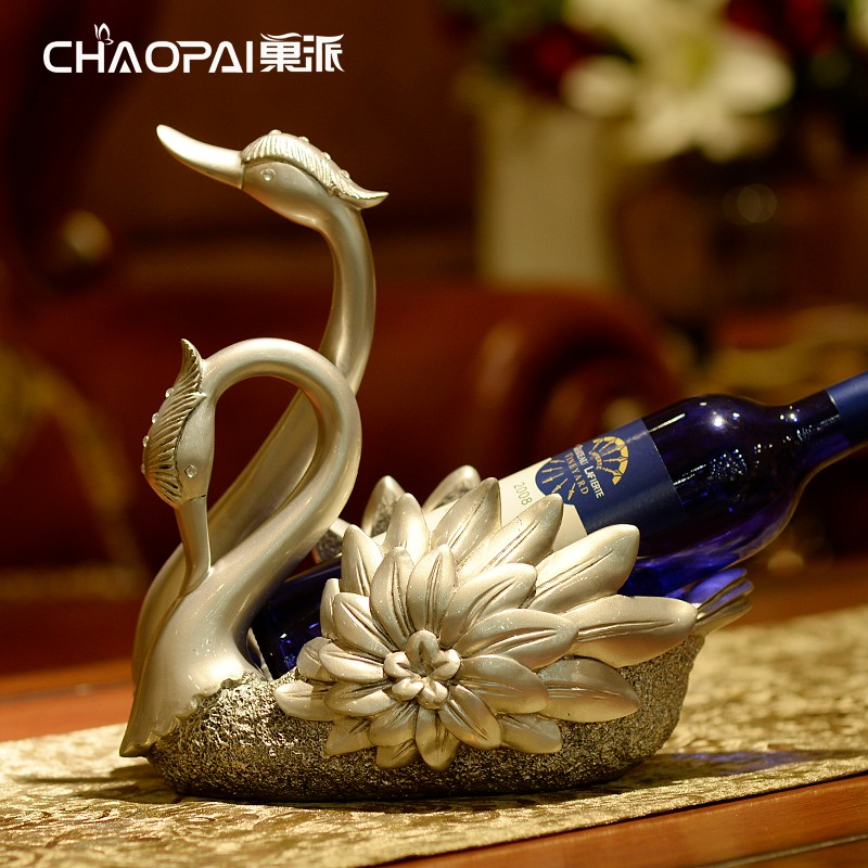 Christmas/Business gifts recomand swan wine bottle holder