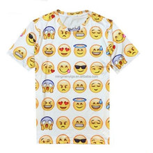 Guangzhou Manufacture Oem Cotton Emotion 3d Printed Funny T shirt