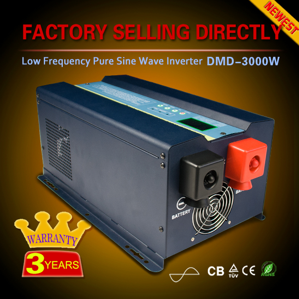 Off grid low frequency pure sine wave single ooutput dc ac 48 volt 3000 watt power dc ac inverter kit