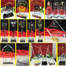 Luxury New Arrive Crystal Plaque For Custom Logo Oscar Trophy