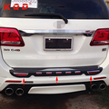 Professional manufacture rear bumper guard accessories for toyota fortuner