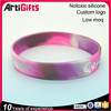 Promotional high quality mix color silicone bracelets