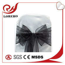 Black cheap chair covers chair sashes for sale organza material