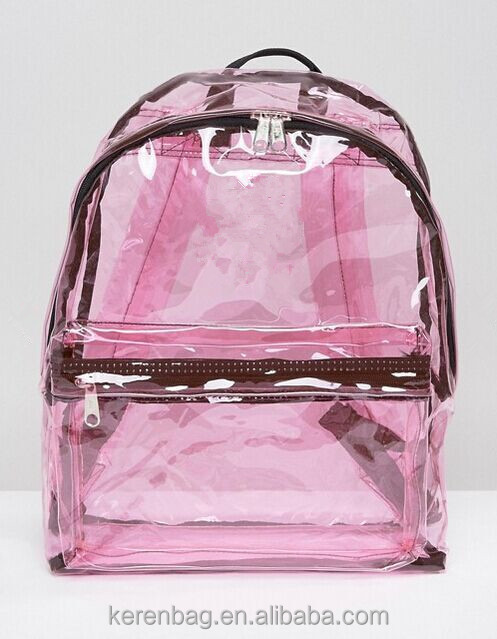 Promotional Holographic cute Transparent Pink Backpack
