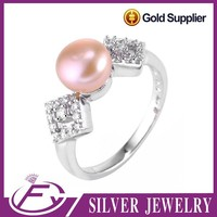 Indian style pearl designs white stone sterling 925 silver jewellery