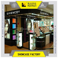 Shopping mall makeup display stands ,glass cosmetic display counter ,high end makeup display sets