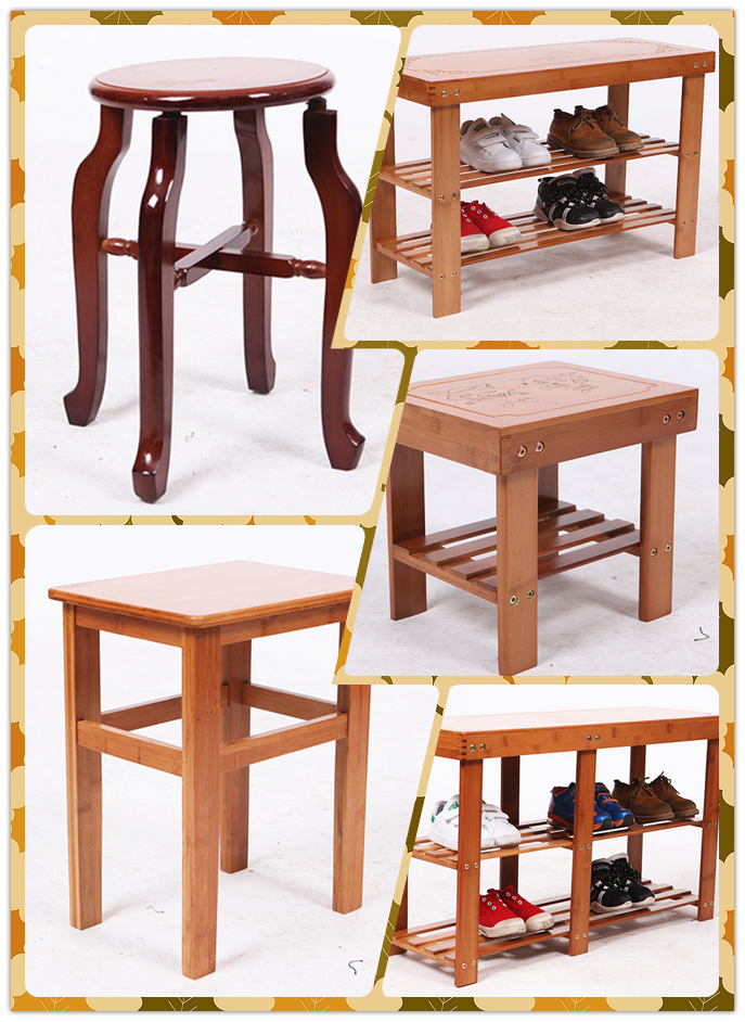 Living Room Bamboo Furniture Bench Shoe Stool Shoe Storage