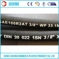 Anti-Cracking High Pressure Hydraulic Flexible Rubber Hose Pipe R2at