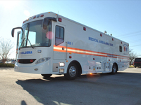 Medical ambulance bus ( american technology )