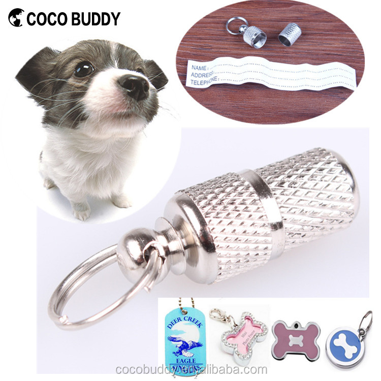 Custom Pet ID Metal Dog Tag Name Stainless Steel Pet Tag