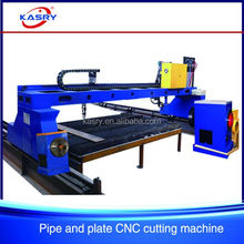 China advertising low-price high-precession CNC sheet and pipe plasma/flame/laser cutting machine
