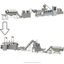 Jinan Shandong Corn snack puff twin screw extruder flour tortilla chips making machine