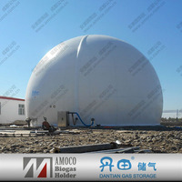 Biogas Storage Balloons Bag, Membrane Methane Collector For Waste Treatment Plant