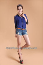 chiffon v-neck magnetic buttons clothes