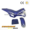 Mini dirt bike plastics / fairings kit. Blue with White Flames