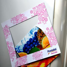 Low MOQ Purchasing for custom promotional magnetic fridge photos frames