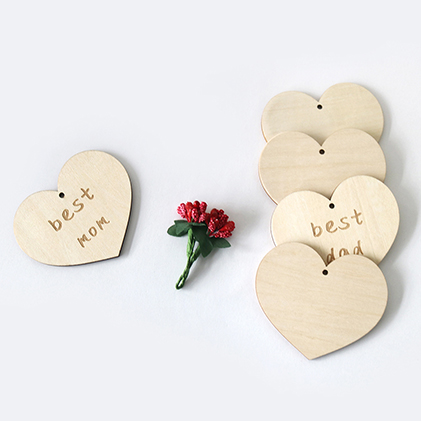 factory wholesale laser cut wood shapes