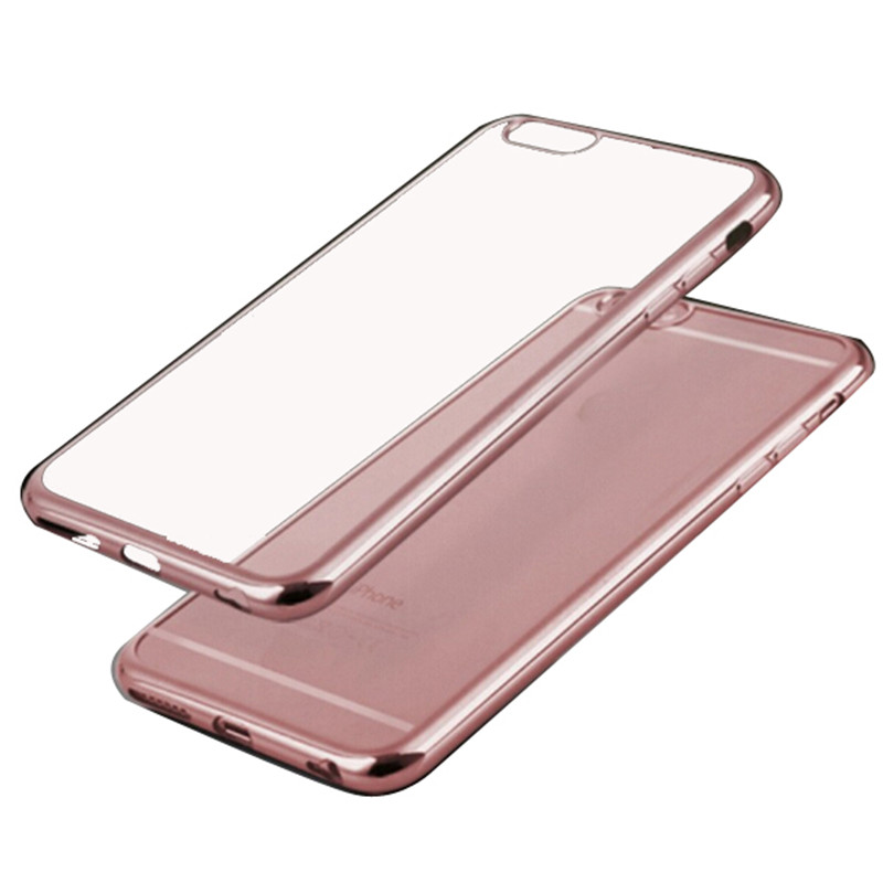 Luxury Gold Frame Chrome Metal Hard Back Skin Cover Case Mobile Phone Accessories for iPhone 6 4.7 / 6 Plus 5.5