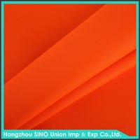 Reflective fluorescent waterproof polyester fabric for safety vests