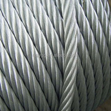 bridge wire rope 10mm steel cable 6x19 galvanized steel cable