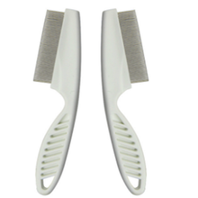 New White Durable Pet Dog Cat Plastic Stainless Steel Lice Flea Comb