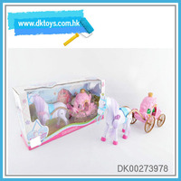 Electric Simulation Plastic Cartoon Pink Caoch With Light&Music