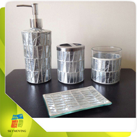 Glass Fashion Promotion Bathroom Accessories Set