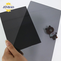 JINBAO cast top factory 1.22x1.83 2-25mm smoke grey PMMA sheet translucent laser cut virgin mma 2mm color acrylic