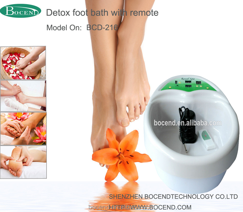 ion detox foot spa device