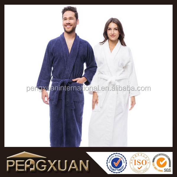 Soft towel robe pattern terry men and woman bathrobe cotton adult bath towel robe