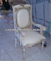 Louis xv Mid Century White Mahogany Wooden Dining Chair Furniture