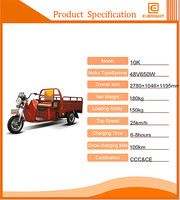 cheapest enclosed electric delivery trike for sale for goods