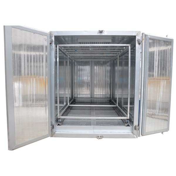 LPG GAS Powder Coating Curing Oven with Two Doors