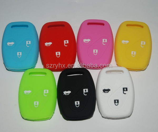OEM design silicone car key protective cover waterproof flip car key silicone case
