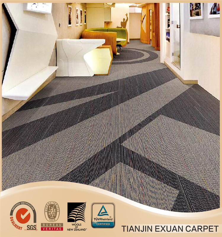 heavy nylon multi level loop commercial office tile carpet