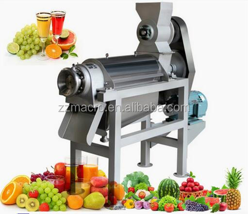 Spiral juice extractor for apple