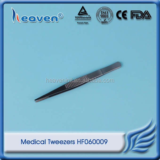 Heaven Medical Metal Tweezers Dressing Forceps HF060009