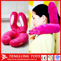 New design funny rabbit shaped Neck Pillow 4 colors